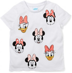 Disney-Girls-Minnie-Mouse-Daffy-Duck-Tee-White on sale