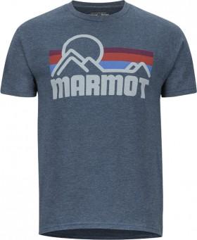 Marmot-Mens-Printed-Short-Sleeve-Tee-Coastal on sale