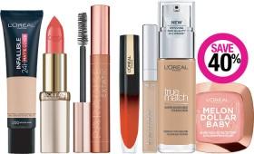 Save-40-on-LOral-Paris-Cosmetic-Range on sale