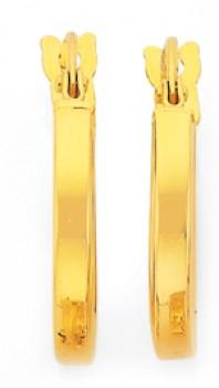 9ct-Gold-10mm-Hoop-Earrings on sale