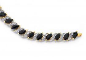 9ct-Gold-Sapphire-Diamond-Bracelet on sale