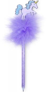 Paperchase-Fluffy-Purple-Unicorn-Pen on sale