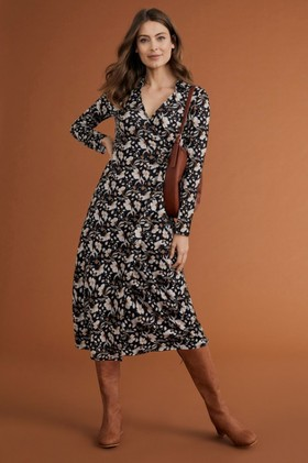 Capture-Wrap-Midi-Dress on sale