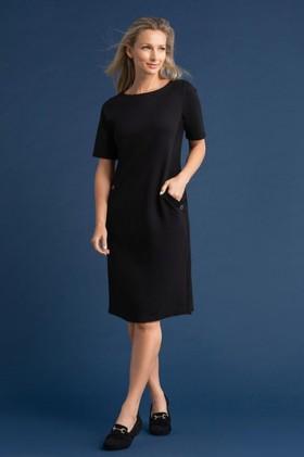 Capture-Ponte-Button-Pocket-Dress on sale