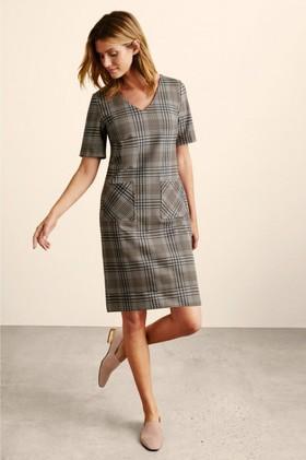 Capture-Ponte-V-Neck-Pocket-Dress on sale