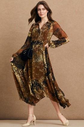 Grace-Hill-Pintuck-Midi-Trapeze-Dress on sale
