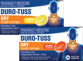 Duro-Tuss-Dry-Cough-Sugar-Free-24-Lozenges-Range on sale