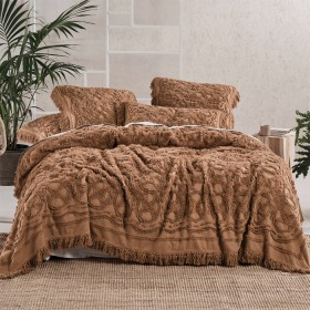 Somers-Caramel-Bed-Cover-by-Linen-House on sale