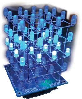 NEW-4x4x4-Blue-LED-Cube-Kit on sale