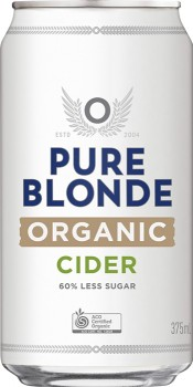 Pure-Blonde-Organic-Apple-Cider-375mL-Cans-10-Pack on sale