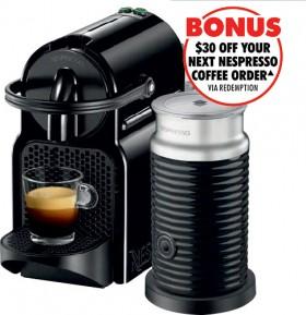 Nespresso-DeLonghi-Inissia-Capsule-Coffee-Machine-Black on sale