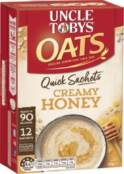 Uncle-Tobys-Oats-Quick-Sachets-10-12-Pack-Selected-Varieties on sale