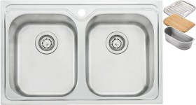 Oliveri-Diaz-Universal-Double-Bowl-Sink on sale