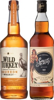 Wild-Turkey-Bourbon-or-Sailor-Jerry-Rum-700mL on sale