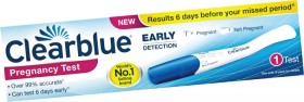 Clearblue-Visual-Early-Detection-Pregnancy-Test-1ea on sale