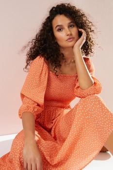 Emerge-Shirred-Bodice-Midi-Dress on sale