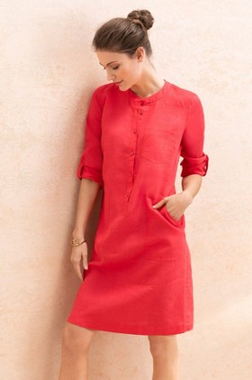 Capture-Linen-12-Placket-Pocket-Dress on sale