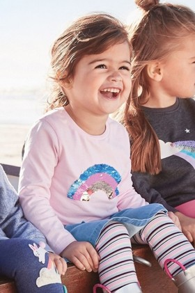 Next-Sequin-Rainbow-Long-Sleeve-T-Shirt-9mths-7yrs on sale
