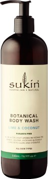Sukin-Botanical-Body-Wash-Lime-and-Coconut-500mL on sale