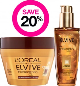 Save-20-on-Selected-LOral-Paris-Elvive-Hair-Treatments on sale
