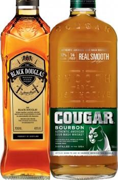 Black-Douglas-Scotch-or-Cougar-Bourbon-700mL on sale
