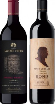 Jacobs-Creek-Double-Barrel-or-Peter-Lehmann-The-Bond-750mL-Varieties on sale