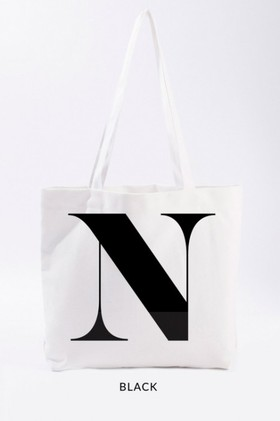 Personalised-Natural-Canvas-Initial-Tote on sale