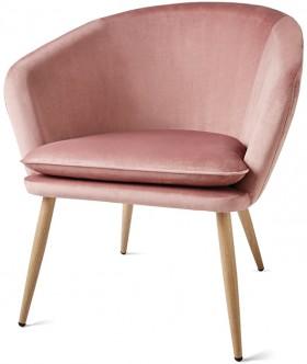 Pink-Velvet-Chair on sale