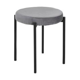 Grey-Velvet-Stool on sale