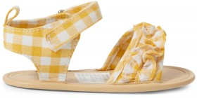 Dymples-Check-Ruffle-Sandals on sale