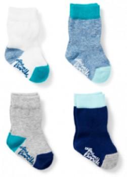 Bonds-4-Pack-Baby-Stay-on-Crew-Socks-Boy on sale