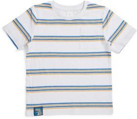K-D-Print-Stripe-Slub-Tee-with-Pocket on sale
