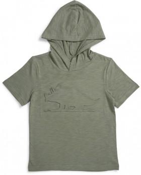 K-D-Embossed-Print-Hooded-Tee on sale