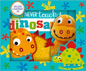 Never-Touch-a-Dinosaur-Book-and-Plush-Boxed-Set on sale