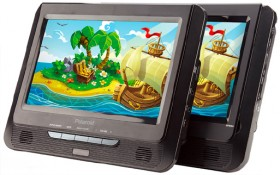 NEW-Polaroid-9-Inch-Dual-Screen-DVD-Player on sale