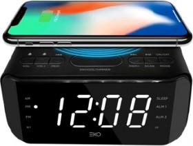 NEW-EKO-FM-RadioBluetooth-Alarm-Clock-Radio-with-Wireless-Charging on sale