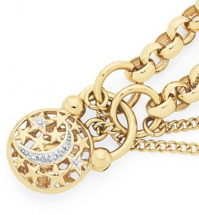 9ct-Gold-Solid-Belcher-Padlock-Bracelet on sale