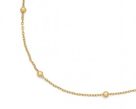 9ct-Gold-45cm-Beaded-Trace-Chain on sale