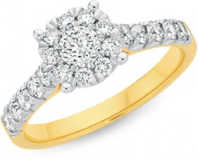 18ct-Gold-Diamond-Engagement-Ring on sale