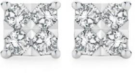 9ct-White-Gold-Diamond-Square-Shape-Stud-Earrings on sale