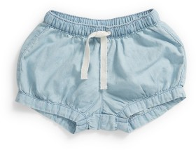 Dymples-Chambray-Shorts on sale
