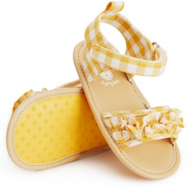 Dymples-Ruffle-Sandals on sale
