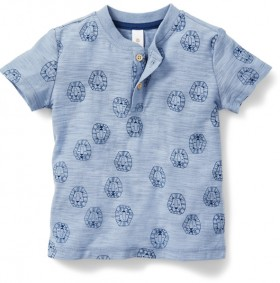 Dymples-Printed-Henley-Tee on sale