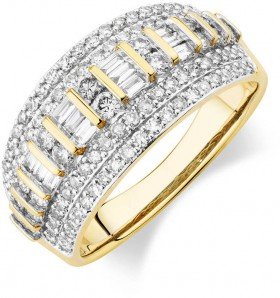 Multi-Row-Ring-with-1-Carat-TW-of-Diamonds-in-10ct-Yellow-Gold on sale