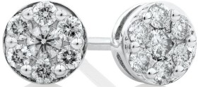 Stud-Earrings-with-0.25-Carat-TW-of-Diamonds-in-10ct-White-Gold on sale