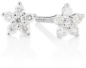 Star-Stud-Earrings-with-0.16-Carat-TW-of-Diamonds-in-10ct-White-Gold on sale