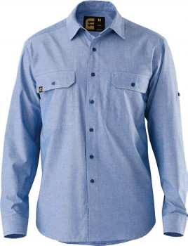 ELEVEN-Evolution-LS-Chambray-Shirt on sale