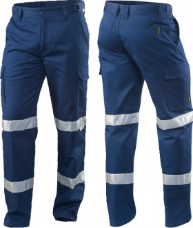 ELEVEN-Cargo-Drill-Work-Pants-With-3M-Tape-In-Bio-Motion-Pattern on sale