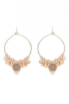 Amber-Rose-Multi-Charm-Stamped-Hoop-Statement-Earrings on sale