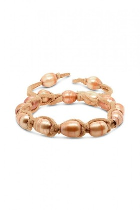 Fairfax-and-Roberts-Real-Freshwater-Pearl-Suede-Adjustable-Bracelet on sale